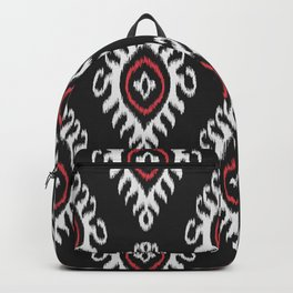 IKAT pattern 01, black Backpack