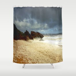Foaming Residue Shower Curtain