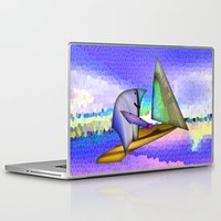 sailing Laptop & iPad Skins featuring Sailing by Digital-Art