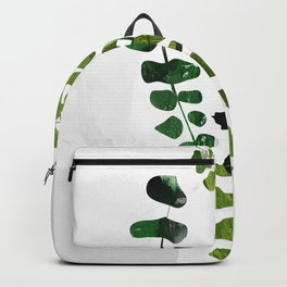 leaves branch green and gray illustration artprint Backpack