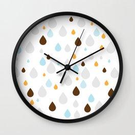 waterdrops raindrops Wall Clock