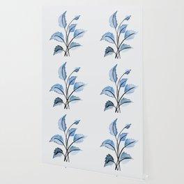 Blue leaves Wallpaper
