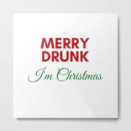 Merry Dunk I'm Christmas Metal Print