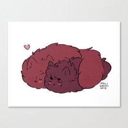 Fluffy Smooch Canvas Print