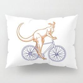 Kangaroo on a bike Pillow Sham