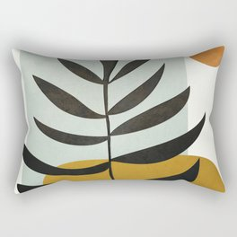 Soft Abstract Large Leaf Rectangular Pillow