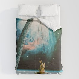 Hanging Out In Space Comforters