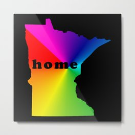 Minnesota -home- Metal Print