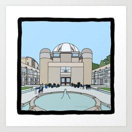 Cambridge struggles: Murray Edwards College Art Print