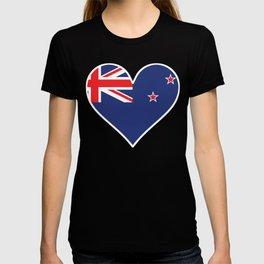 New Zealand Flag Heart T-shirt