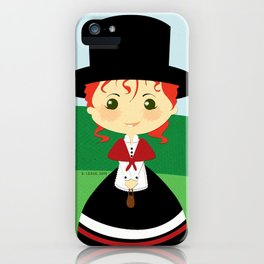 Girls of the World: Wales iPhone Case
