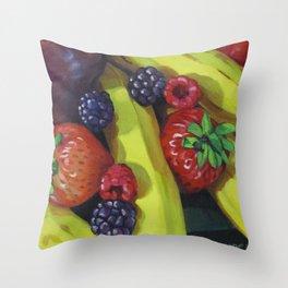 Fruit Bunch Throw Pillow