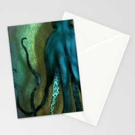 Octopus Ocean Shadow Dance Stationery Cards