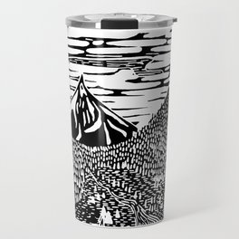 Mountain Block Print Travel Mug
