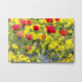 Summer Flowers Art Metal Print