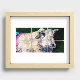 Colorful Dingle Sheep Recessed Framed Print