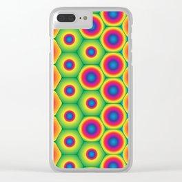 Rainbow Hexagon Clear iPhone Case