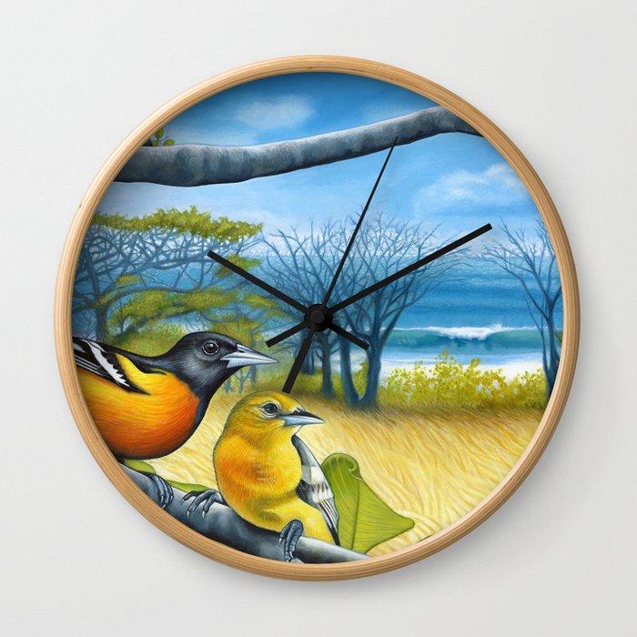 Surf Report Wall Clock
