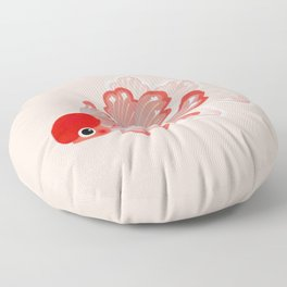 Red cap Oranda Floor Pillow