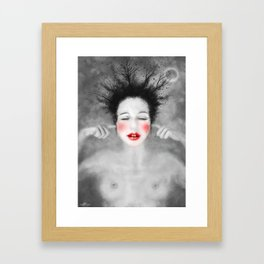 The noise of the world Framed Art Print