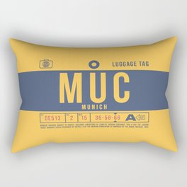 Luggage Tag B - MUC Munich Germany Rectangular Pillow