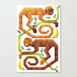 Monkeys Canvas Print