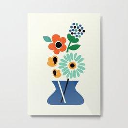 Floral Time Metal Print