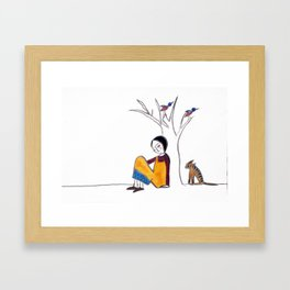 We Spend A lot of Time Alone Framed Art Print