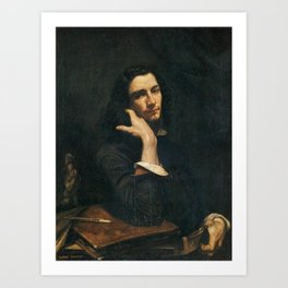 Gustave Courbet - Self-Portrait (Man with Leather Belt) Art Print