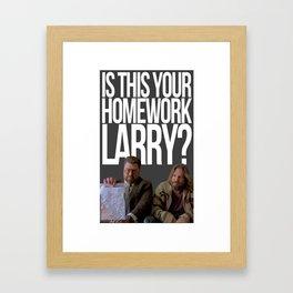 Th Big Lebowski Framed Art Print