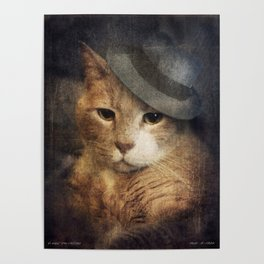 Vinnie Valentino - Ginger Cat Portrait Poster