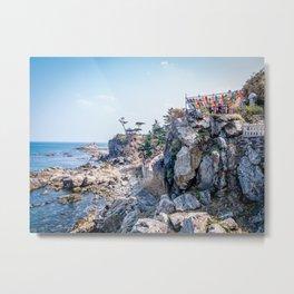 Naksansa - A Temple by the Sea Metal Print
