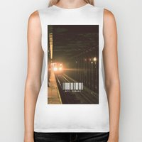 subway Biker Tanks featuring NYC Subway by Tanner Dallas
