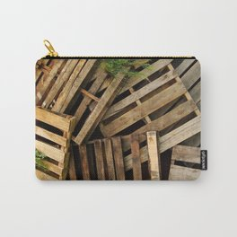 Wood Crate Paneling Pattern Carry-All Pouch
