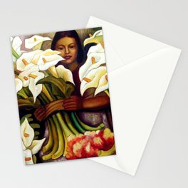 1938 Classical Masterpiece 'Alcatraces Flower Seller' by Diego Rivera Stationery Cards