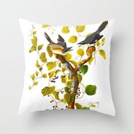 Loggerhead Shrike Bird Throw Pillow