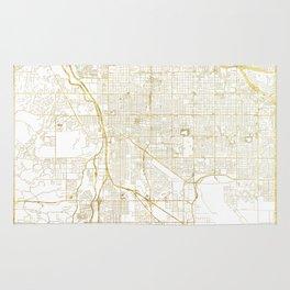 Tucson Map Gold Rug