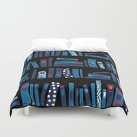reading Duvet Covers featuring Keep Reading by Beesants