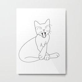 Time Fur a Cat Nap Metal Print