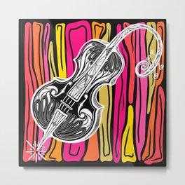 Bendy Cello Metal Print