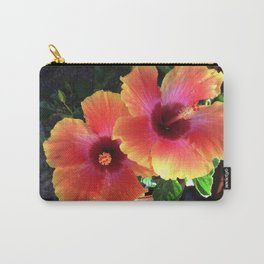 California Yellow Red Pink Hibiscus  Carry-All Pouch
