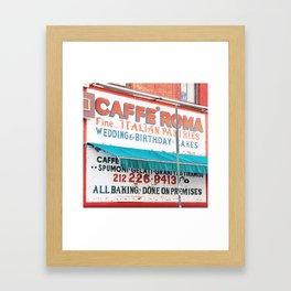 176. Caffé Roma, New York Framed Art Print