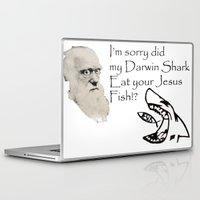 darwin Laptop & iPad Skins featuring Darwin Shark by A&N2218