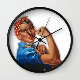 Black Lives Matter Rosie The Riveter Wall Clock
