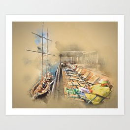 Relax! South Street Seaport NYC Art Print