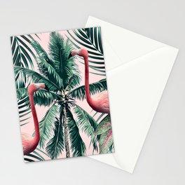 Flamingo tropics Stationery Cards