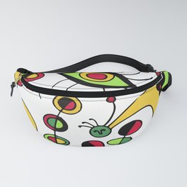 Joan Miro Peces De Colores (Colorful Fish ) Artwork for Posters Tshirts Prints Men Women Kids Fanny Pack