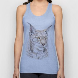 Lynx - Colored Pencil Unisex Tank Top