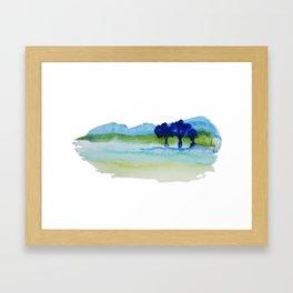Blue Trees Framed Art Print