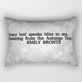 Autumn Literature Quotes Black and White Rectangular Pillow